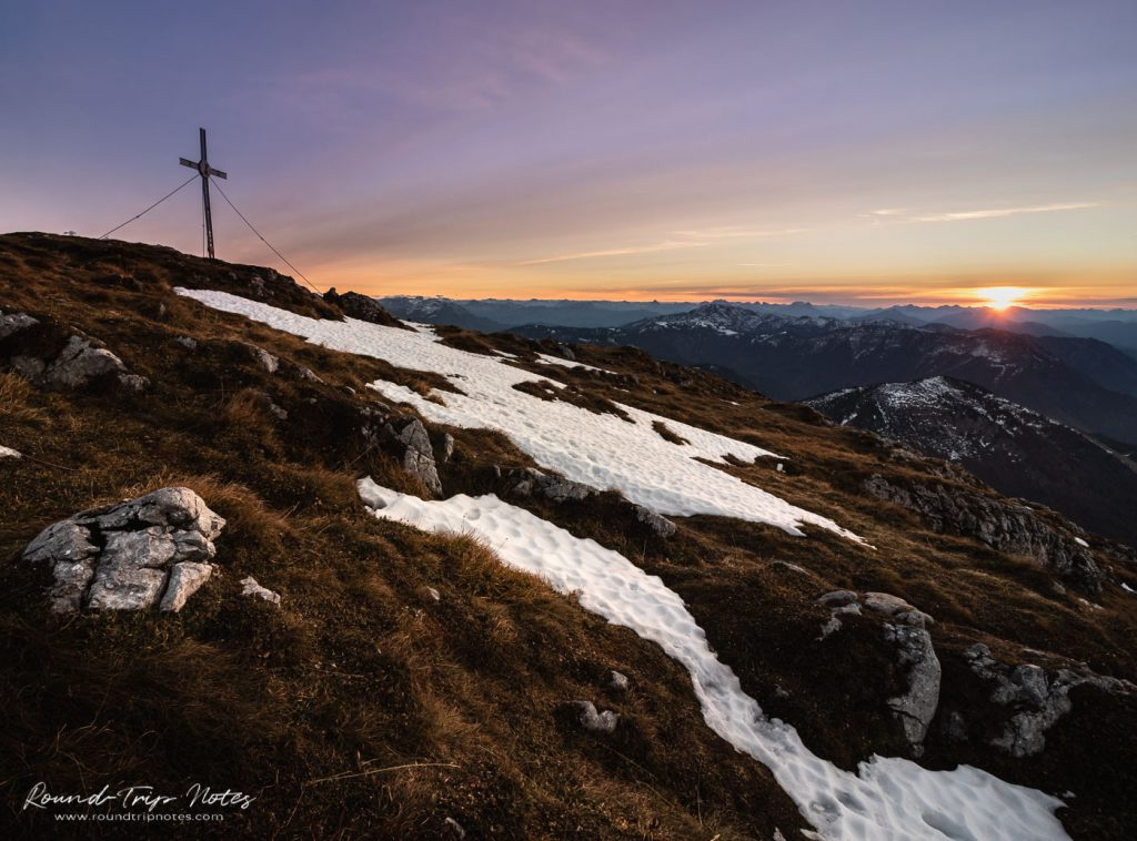 Sunset from the top of Mount Ötscher 1.893 m (6,211 ft)